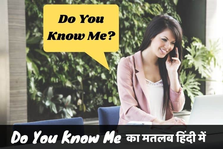 डू यू नो मी का मतलब - Do You Know Me Meaning In Hindi