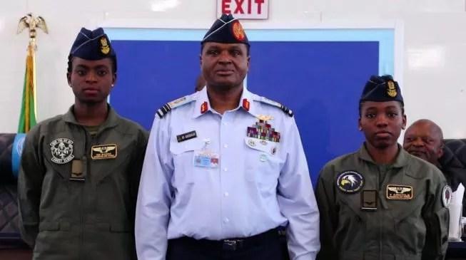 NAF Decorates Kafayat Sanni & Tolulope Arotile As Female Combatant Pilots 1
