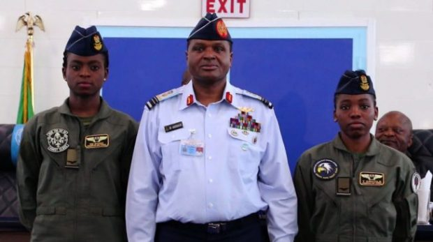 NAF Decorates Kafayat Sanni & Tolulope Arotile As Female Combatant Pilots 2