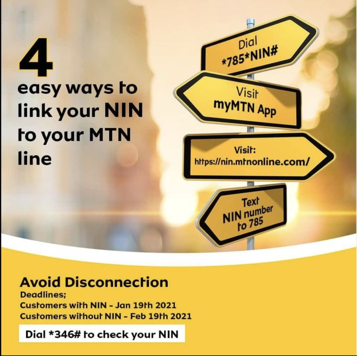 FAQs On Integrating Your MTN Line With The NIN 1