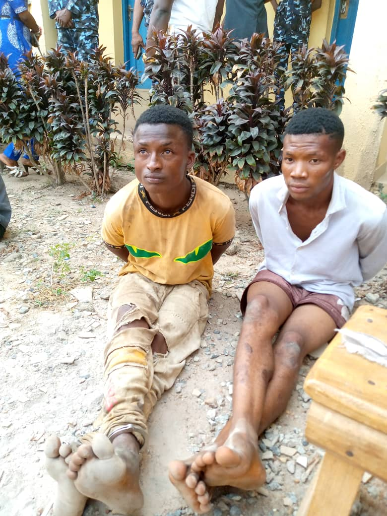 Osun Police Parade Kidnappers Who Killed & Dumped Bodies Of 2 Teenagers (Photo) 1