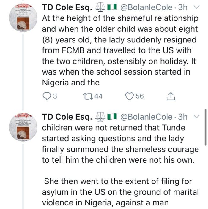 How FCMB MD, Adam Nuru Allegedly Causes The Death Of Mr. Tunde Thomas After Dating His Wife Who Is FCMB Staff For 8 Years 8