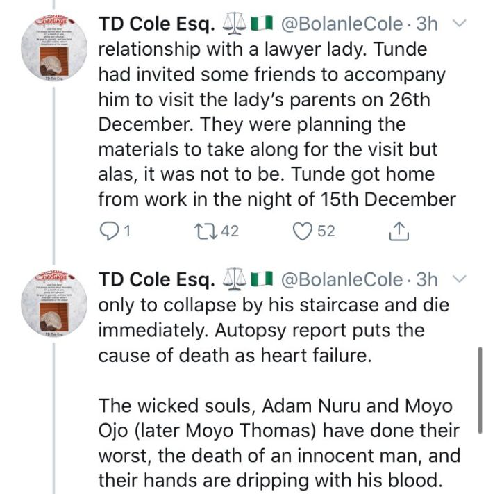 How FCMB MD, Adam Nuru Allegedly Causes The Death Of Mr. Tunde Thomas After Dating His Wife Who Is FCMB Staff For 8 Years 10