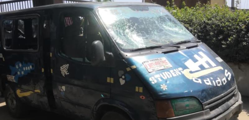 Hoodlums Attack LASU, Destroy Vehicle (Photos) 1