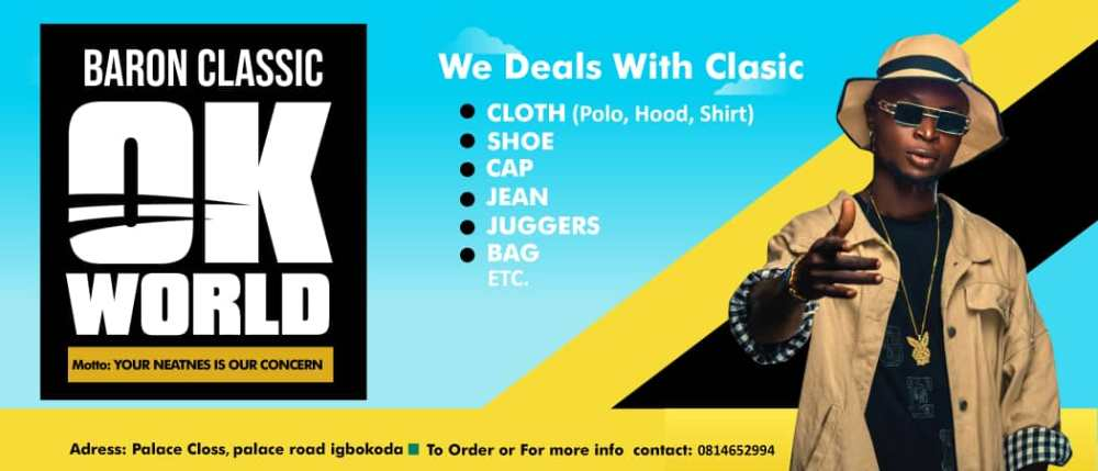 Buy Bag Shirt Polo Shoe Jean or trousers And lot more from Baron classic Ok world