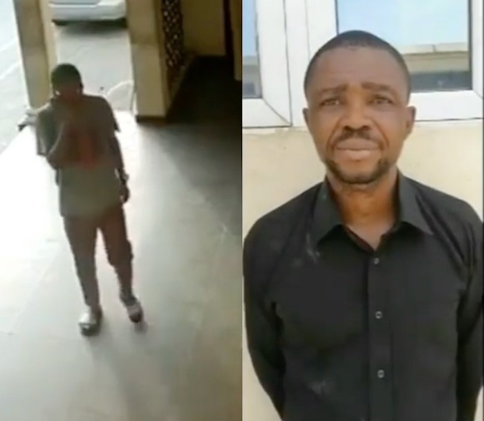 Dismissed Police Corporal Caught On CCTV Stealing Phone From A Police Station
