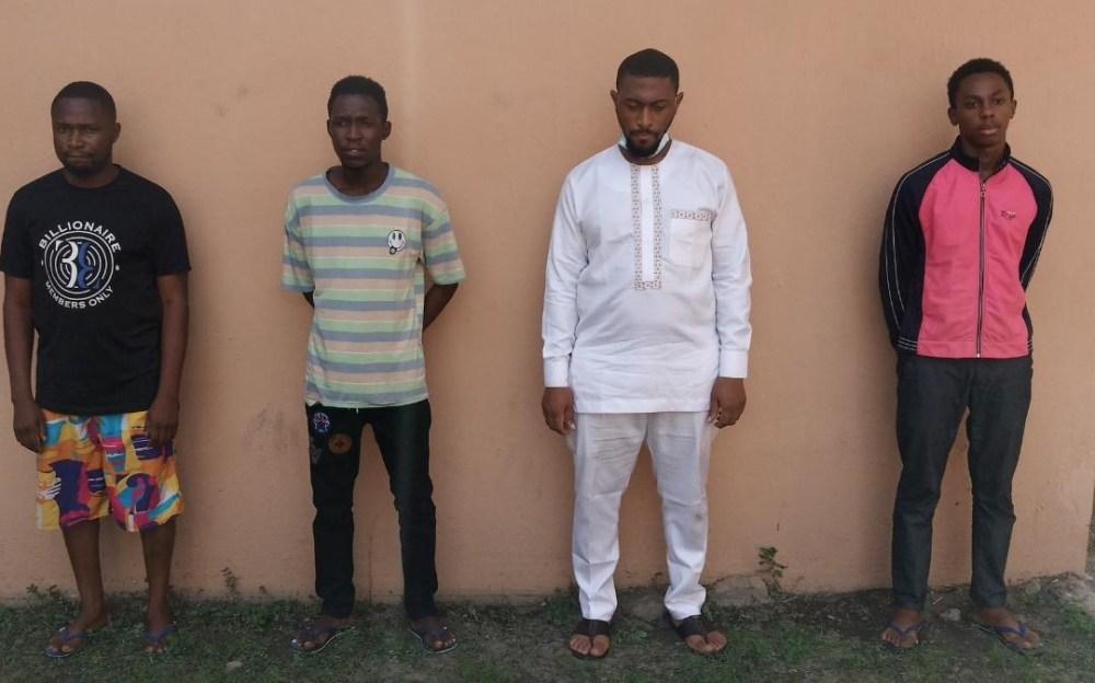 EFCC Arrests Four Suspected Internet Fraudsters In Lagos