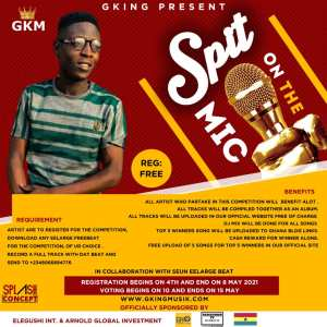 End of submission of music by artist for Gking Spit on the Mic Competition