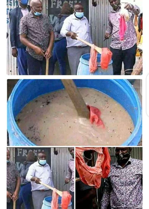 Lady Caught Using Her Used Pants To Make Kunu For The Public (See Photos) 1