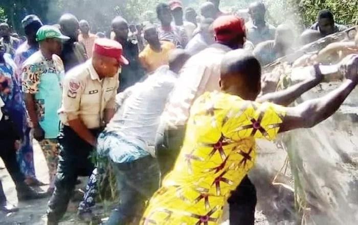 Five Burnt To Death As Diesel-Laden Tanker Detaches, Explodes In Ogun (Watch Video)