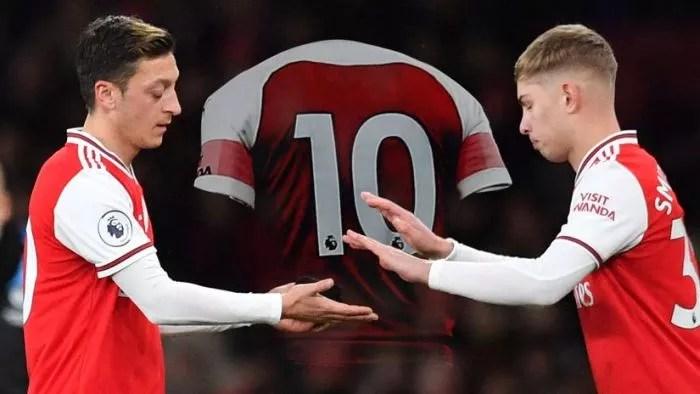 Emile Smith Rowe Hijacks Mesut Ozil's No.10 Shirt At Arsenal (See Details)