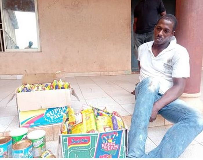 Man Arrested For Stealing Food Items Says The Shop Was Open So He Took What He Wanted (Photo)