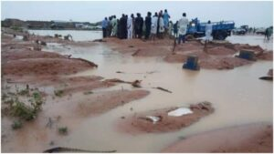 Flood Submerges Graveyard, Exposes Corpses In Senate President's Home Town (Photos)