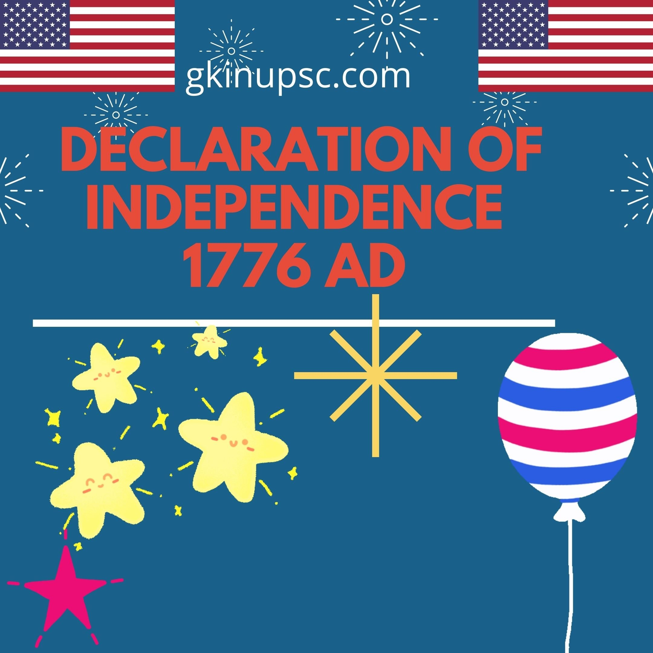 Declaration of Independence 1776 AD