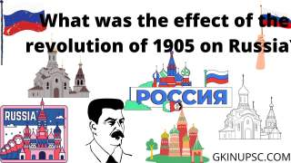 What was the effect of the revolution of 1905 on Russia?