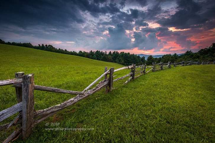 """""""Split Rail Sunset"""", Canon 5D Mk3, 16-35mm f/2.8L Mk2, Singh-Ray Galen Rowell 2-stop hard and 3-stop soft edge ND Grad"""