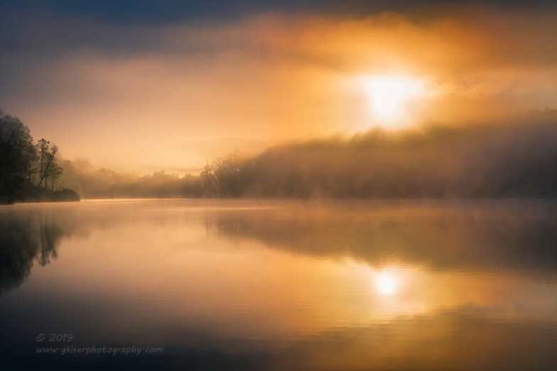 """Burning Through the Fog"", Canon 5D Mk3, 70-200mm f/2.8L Mk2, No Filters"