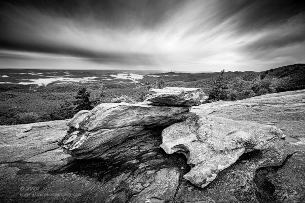 """""""High Country Rain"""", Canon 5D Mk3, 16-35mm f/2.8L Mk2, Singh-Ray Galen Rowell 2-stop soft and 2-stop hard ND Grad, Converted to B&W in Lightroom"""