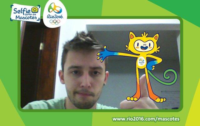 selfie com mascote
