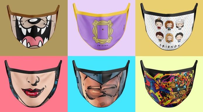 Máscaras Warner Bros. e Band UP!