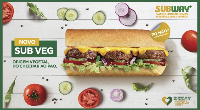Foto da campanha do Subway