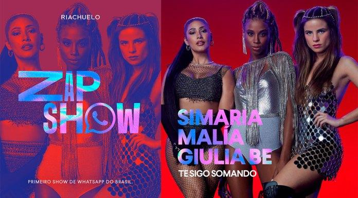 Banner do show via WhatsApp promovido pela Riachuelo.