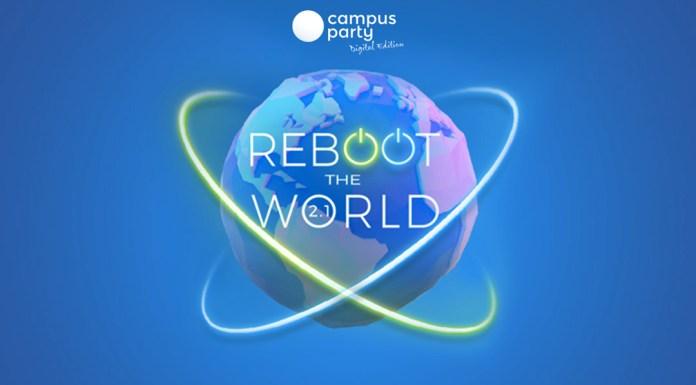 Foto do logo da Campus Party em sua versão digital