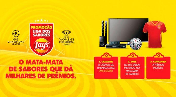 Banner da promoção da Lay's para escolher o novo sabor de salgadinho.
