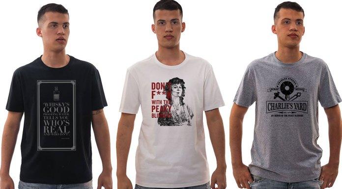 Três camisetas da linha oficial de Peaky Blinders.