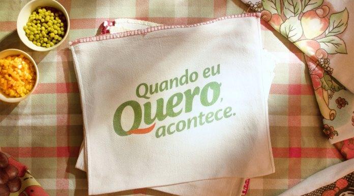 Banner de divulgação da nova campanha da Quero, que exalta a força de vontade das consumidoras. Foto com a frase