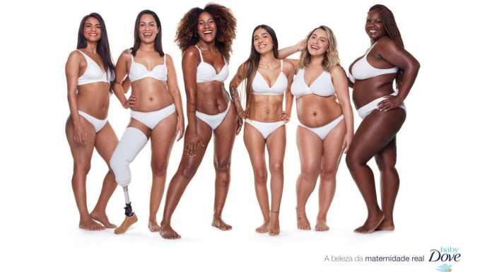 Foto de divulgação da campanha de Dia das Mães de Baby Dove.