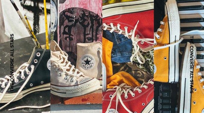 Foto de divulgação da nova campanha da Converse, em que a marca conta histórias inspiradoras a partir das cores.