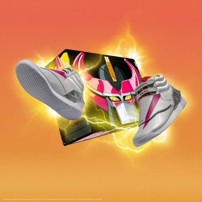 Coleção Reebok Power Rangers Tênis Branco com Rosa