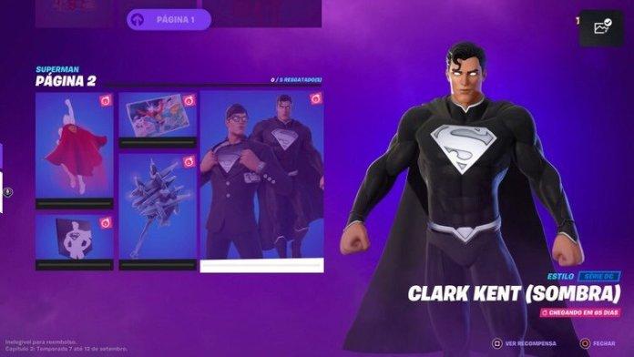 Fortnite skin Superman Justice League