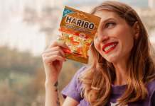 Gabi representa Haribo sabor amora