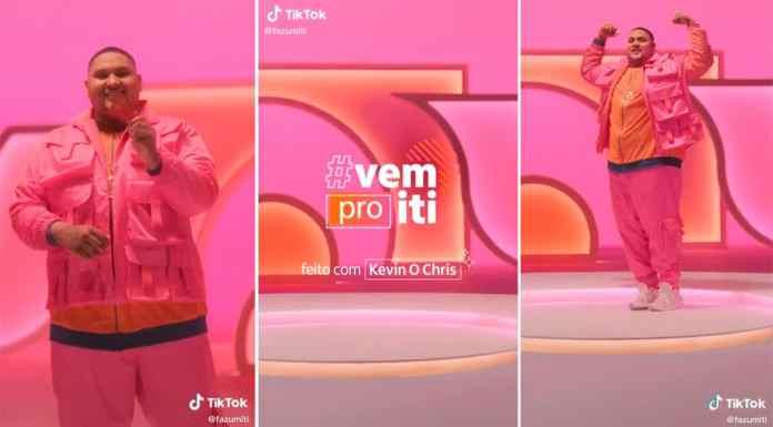 Kevin O Chris no TikTok do iti.