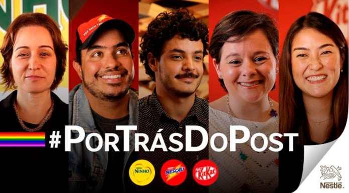 Campanha do Dia do Orgulho LGBTQIAP+ da Nestlé.