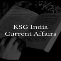 KSG India Monthly Current Affairs