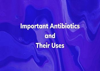 Important Antibiotics and their Uses - Antibiotics