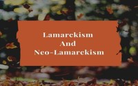 Lamarckism And Neo-Lamarckism
