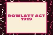 Rowlatt Act, 1919