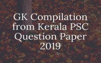 GK Compilation from Kerala PSC Question Paper 2019