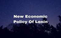 New Economic Policy Of Lenin