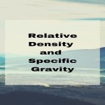Relative Density and Specific Gravity
