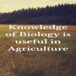 Knowledge of Biology is useful in Agriculture
