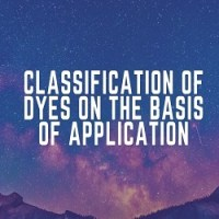 Classification of Dyes on the basis of Application