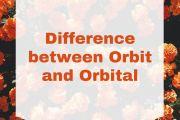 Difference between Orbit and Orbital