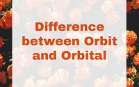 Difference between Orbit and Orbital