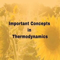 Important Concepts in Thermodynamics