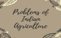 Problems of Indian Agriculture